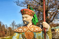 Chinese statue in park in pushkin in autumn Stock Image