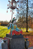 Chinese statue in park in pushkin in autumn Stock Photography
