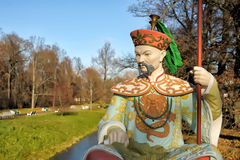 Chinese statue in park in pushkin in autumn Stock Photos