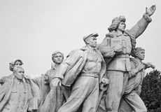 Chinese statue in Tiananmen Square. Detail of chinese statue in Tiananmen Square Royalty Free Stock Image