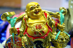 Chinese statuette Merry Budda Royalty Free Stock Images