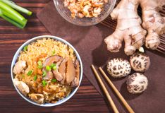 Chinese steam rice Stock Photo