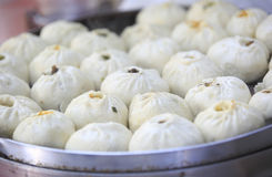 Chinese steamed baozi. In steamer for sale Stock Images