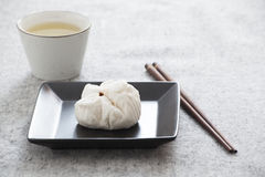 Chinese steamed barbecue pork bun (Dim Sum) Royalty Free Stock Images