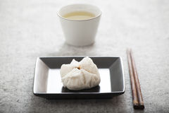 Chinese steamed barbecue pork bun (Dim Sum) Stock Image