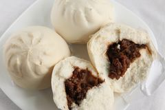 Chinese steamed bun Stock Photo