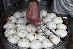 Chinese steamed bun Stock Images