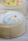 Chinese steamed bun  in bamboo ware Stock Photography