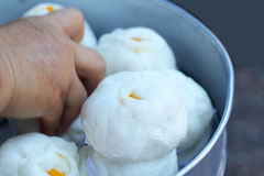 Chinese steamed bun in the market Royalty Free Stock Images