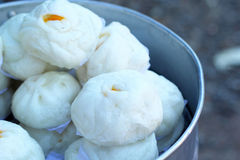 Chinese steamed bun in the market Royalty Free Stock Photography