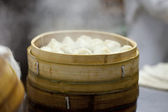 Chinese Steamed Buns in cooking Royalty Free Stock Photography