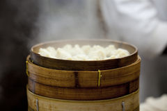 Chinese Steamed Buns in cooking Royalty Free Stock Photo