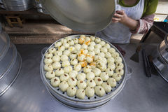 Chinese steamed buns stuffed in Dali market ,Yunnan China. Royalty Free Stock Images