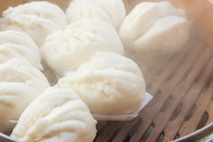 Chinese steamed buns stuffed red pork Stock Image