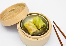 Chinese steamed dim sum cabbage Royalty Free Stock Photos
