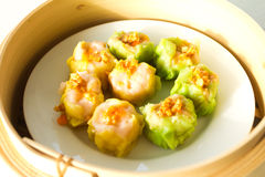 Chinese steamed dimsum in bamboo Stock Images
