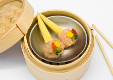 Chinese steamed dimsum corn Stock Photos
