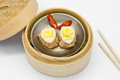 Chinese steamed dimsum egg Royalty Free Stock Photo