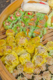 Chinese Steamed Dumpling sale in the fresh food market Stock Image