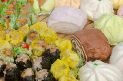 Chinese Steamed Dumpling sale in the fresh food market Royalty Free Stock Photography