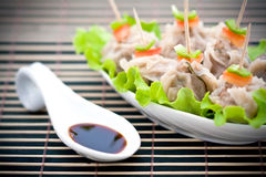 Chinese steamed dumplings Stock Images