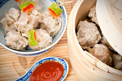 Chinese steamed dumplings Royalty Free Stock Photo