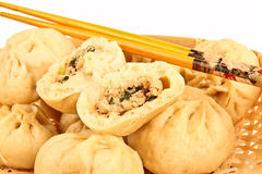 Chinese steamed dumplings Royalty Free Stock Images