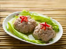 Chinese steamed lion head pork meat ball Royalty Free Stock Photography