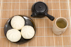 Chinese steamed meat buns Royalty Free Stock Photo