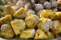 Chinese steamed pork dumplings Royalty Free Stock Photos