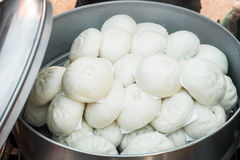 Chinese steamed stuff bun, dumpling bun. Stock Images