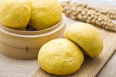 Chinese steamed stuffed bun Royalty Free Stock Photos