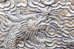 Chinese steel dragon face pattern background Stock Images