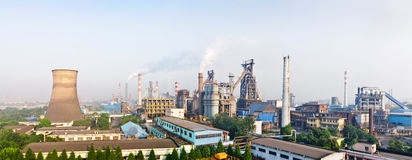 Chinese steelworks panoramic view Stock Image