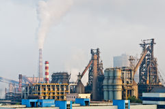 Chinese steelworks smoke pollution Stock Image