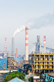 Chinese steelworks smoke pollution Stock Images