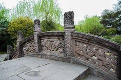 Chinese steenbrug met draakontwerp Royalty-vrije Stock Fotografie