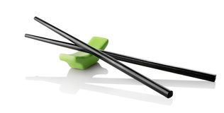 Chinese sticks on stand Royalty Free Stock Image