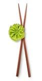 Chinese sticks and wasabi Stock Photos