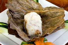 Chinese Sticky Rice in Lotus Leaf Royalty Free Stock Photography