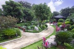 Chinese stijl botanische tuin Royalty-vrije Stock Foto's