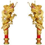 Chinese stijl gouden draak Royalty-vrije Stock Afbeeldingen