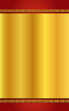 Chinese stijl gouden en rode achtergrond Stock Foto's