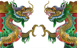 Chinese stijl tweelingdraak Royalty-vrije Stock Fotografie