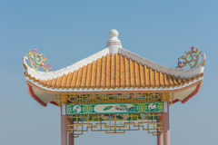 Chinese stijlpavillion Royalty-vrije Stock Afbeeldingen