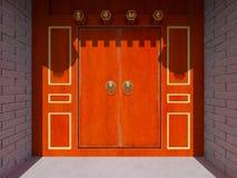 Chinese stijlwoonplaats en binnenplaats Royalty-vrije Stock Afbeelding