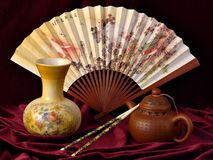 Chinese Still Life - 1. Some Chinese type objects royalty free stock image