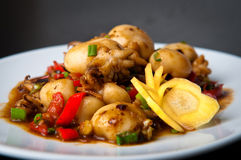 Chinese stir-fried baby squid Royalty Free Stock Images