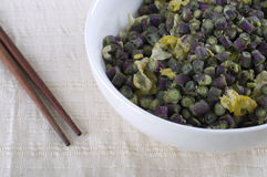 Chinese stir fried long bean Royalty Free Stock Images
