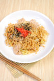 Chinese stir fried noodles Royalty Free Stock Photos
